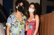 Ananya Panday makes a design statement with Ishaan Khatter amidst the Diwali celebrations