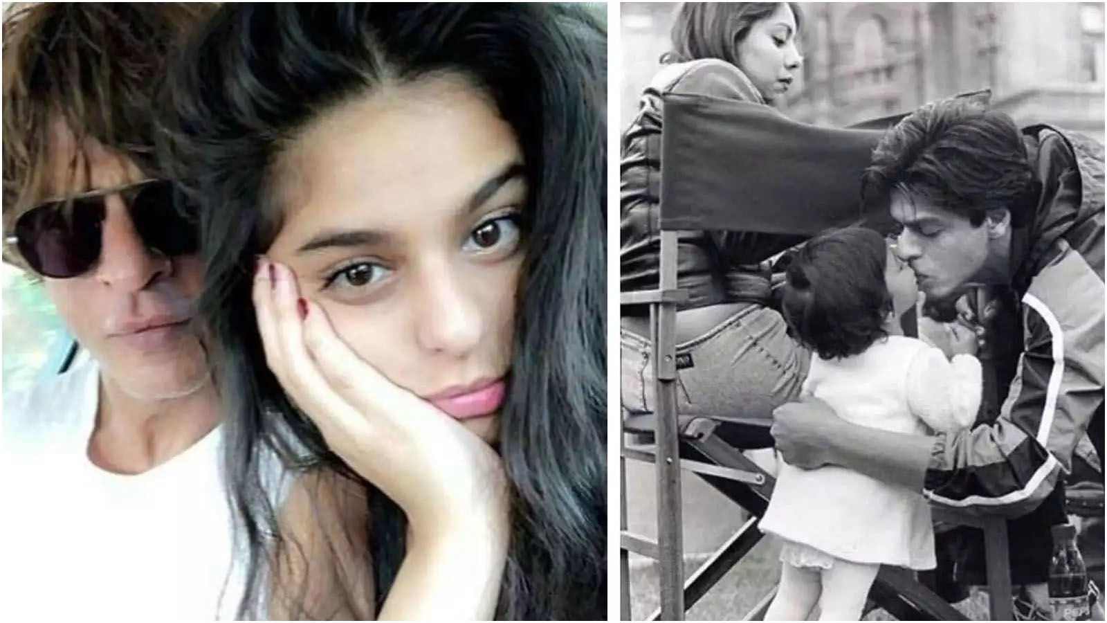 This loved-up picture of Shah Rukh Khan and Suhana Khan will drive away your quarantine blues - Bollywood News